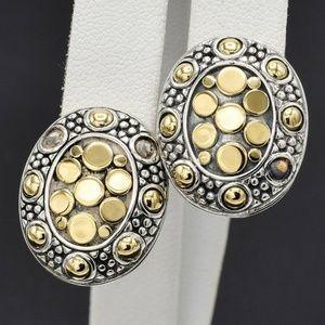 John Hardy 18K Yellow Gold Jaisalmer Dot Earrings